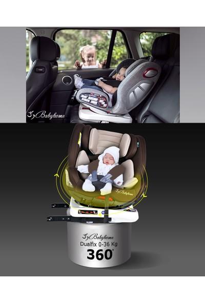 Baby Home 900 Dualfix 360' Dönebilen Isofix'li 0-36 kg 9 Ay-12 Yaş Bebek Çocuk Oto Koltuğu