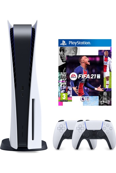 Sony PS5 Playstation 5 Oyun Konsolu + 2. Kollu + PS5 Fifa 2021