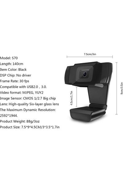 Hxsj S70 HD Webcam Otomatik Odaklama Webcam (Yurt Dışından)