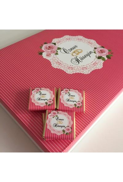 Chokaranj Isimli Söz Nişan, Kz Isteme Çikolatası - Pembe