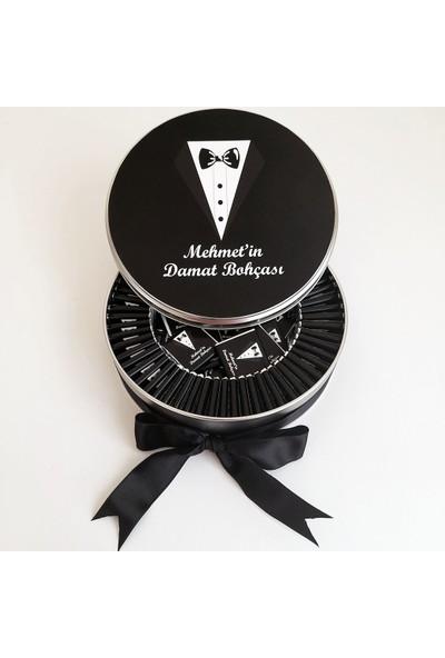 Chokaranj Metal Kutuda Isimli Damat Bohça Çikolatası (100'LÜ)