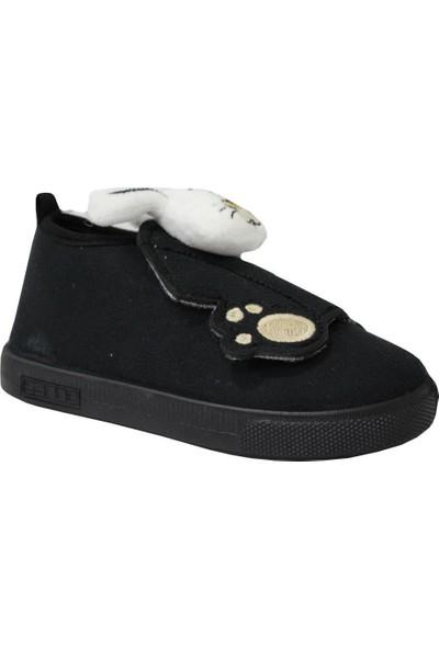 Sanbe Erkek Çocuk 106 S 132 Siyah Panduf Ev ve Kreş Ayakkabısı
