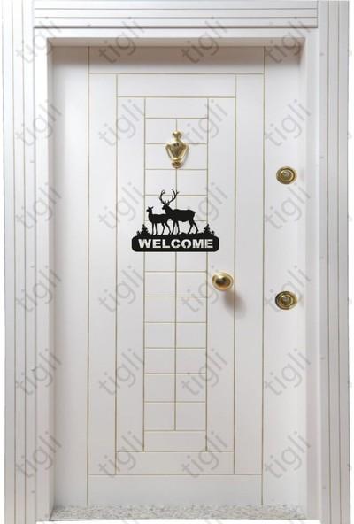 Tigli Geyik Kapı Süsü - Kapı Dekorasyon