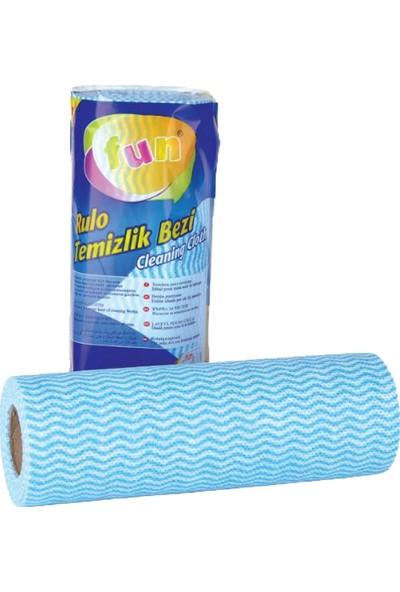 Fun Hassas Temizlik Bezi Mavi Renk 30 Yaprak x 4 Paket
