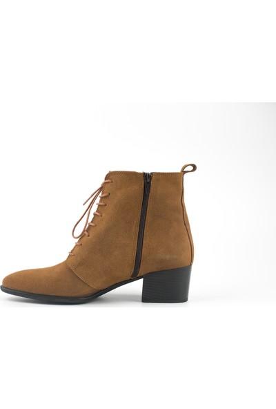 Marine Shoes Kadın Taba Süet Deri Bot