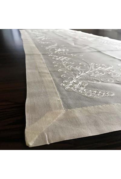 Yavuz Tekstil Çeyizlik Ipek Dokuma Dantelsiz Şemen