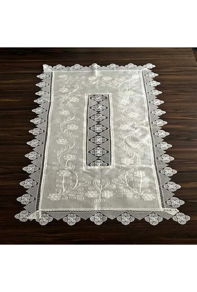 Yavuz Tekstil Çeyizlik Ipek Dokuma Iğne Oyalı Şemen