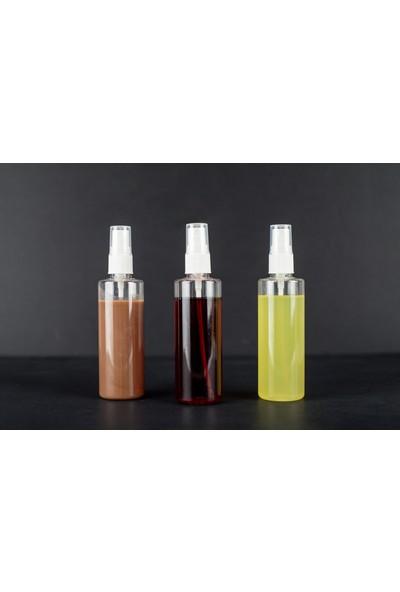 Placity 10 Adet 100ML Boş Şişe Sprey Başlık Parfüm Kolonya Sıvı Dezenfektan Likit Şişe