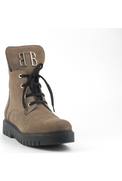 Marine Shoes Kadın Vizon Nubuk Deri Bot