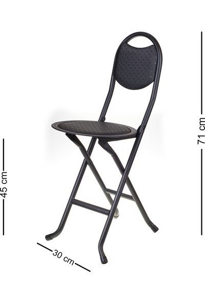 Hastunç Katlanır Sandalye (Siyah)