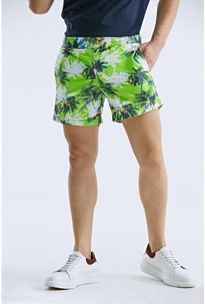 D's Damat Yeşil Şort Mayo