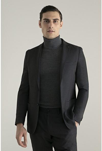 Tween Slim Fit Antrasit Kumaş Ceket