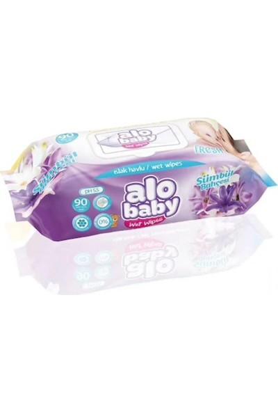 Alo Baby 90LI Islak Mendil Sümbül - 6 Adet