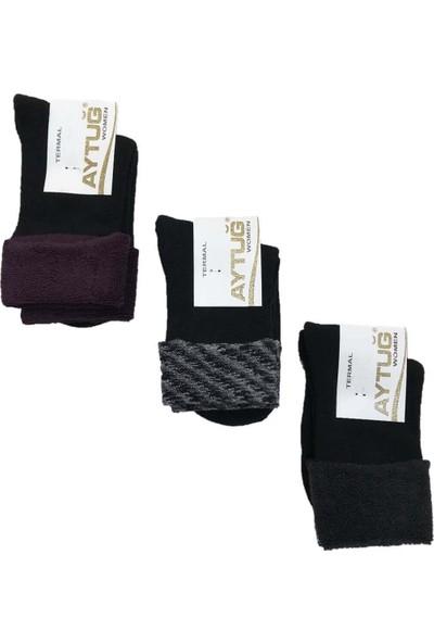 Aytuğ Kadın Kışlık Termal Soket Çorap 3'lü Paket