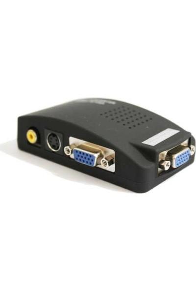 Teknogreen TVA-001 Video To VGA Çevirici Adaptör