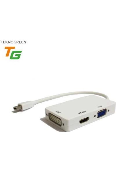 Teknogreen TKD-301M Mini Displayport - Hdmi+Vga+Dv