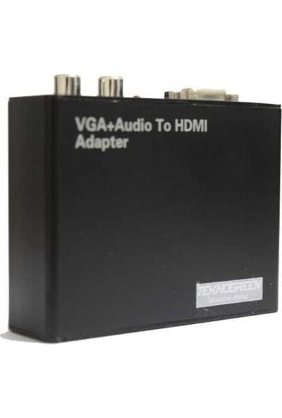 Teknogreen THV-001 VGA To Hdmı Metal Kasa Dönüştür