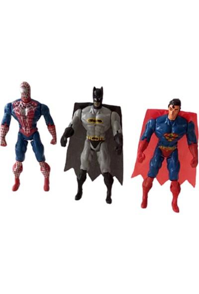 Avengers Süper Kahramanlar 3 Lü Oyuncak Figürler