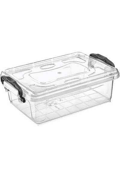 Hipaş Plastik - 0,75 Lt. Kapaklı Şeffaf Saklama Kabı ( 5 Adet )- HP-541-5