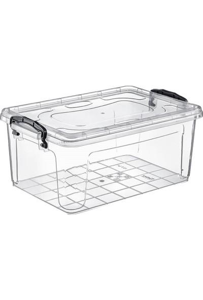 Hipaş Plastik - 0,3 Lt. Kapaklı Şeffaf Saklama Kabı ( 5 Adet )- HP-539-5