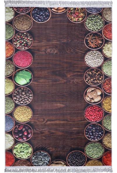Atb Dekoratif Özel Tasarım Mutfak Halısı Modern Yıkanabilir 80 x 120 cm
