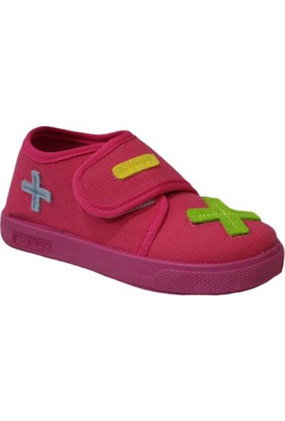 Sanbe 106 S 112 Fuşya Kız Çocuk Panduf Ev ve Kreş Ayakkabısı
