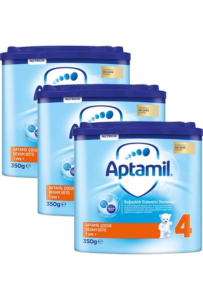 Aptamil 4 Akıllı Kutu Çocuk Devam Sütü 350 gr x 3 Adet