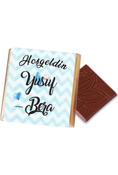 Hayal Sepetim Erkek Bebek Çikolatası (100 Madlen)