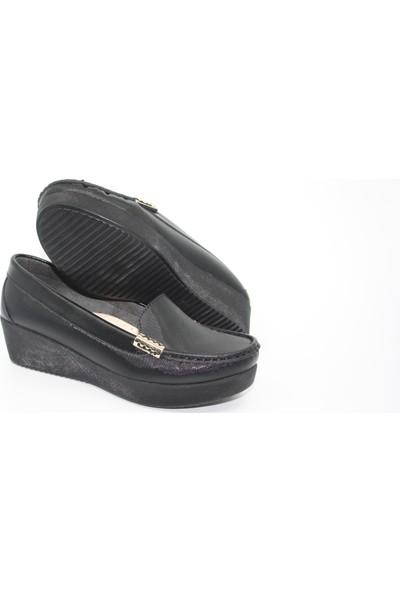 Ceylanlar Kadın Dolgu Topuk Şık Ayakkabı 4 Mevsim OC109