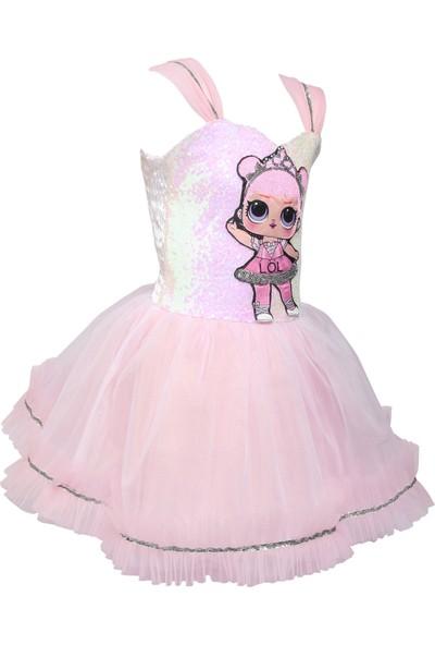 Janjan Kostüm Lol Bebek Şeker Pembe Kostüm
