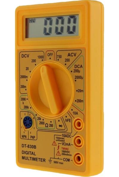 YYB DT830D Dijital Ölçü Aleti Multimetre Avo Metre