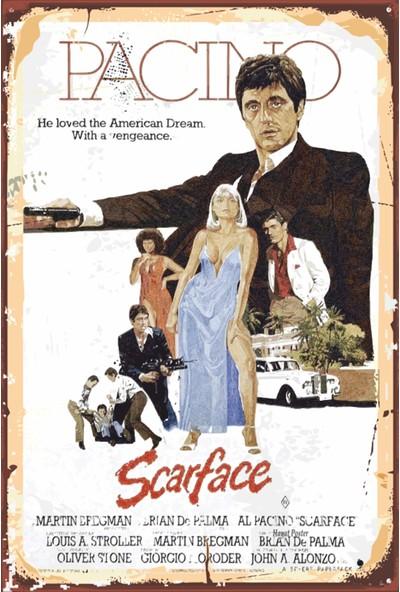 Atc Al Pacino Scarface Sinema Retro Vintage Ahşap Poster