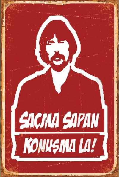 Atc Saçma Sapan Konuşma Behzat Ç Retro Vintage Ahşap Poster