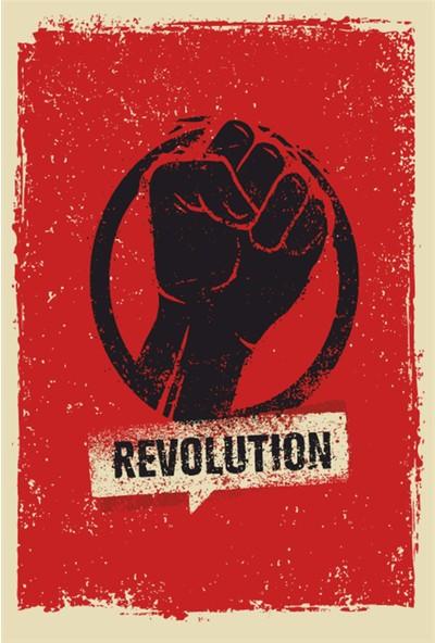 Atc Revolution Devrim Retro Vintage Ahşap Poster
