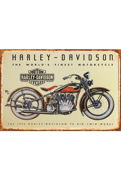 Atc Harley Davidson Retro Vintage Ahşap Poster