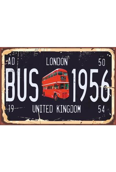 Atc Londra Tabela Tarz Retro Vintage Ahşap Poster 2030042