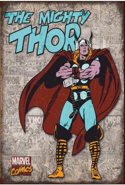 Atc Thor Marvel Retro Vintage Ahşap Poster 2030016