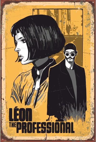 Atc Leon The Professional Sinema Retro Vintage Ahşap Poster