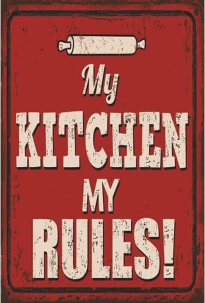 Atc My Kitchen My Rules Benim Mutfağım Benim Kuralım Retro Vintage Ahşap Poster 2030031