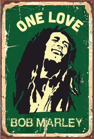 Atc Bob Marley Retro Vintage Ahşap Poster