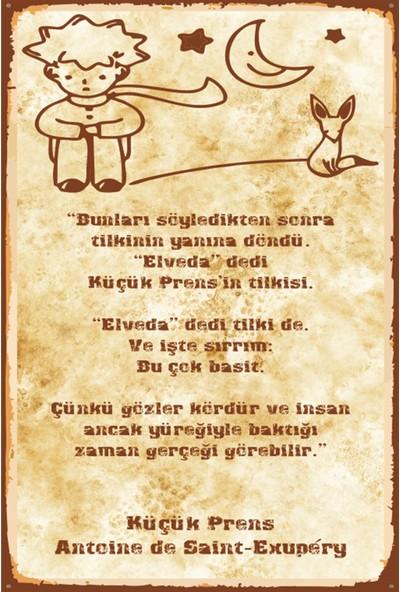 Atc Küçük Prens Retro Vintage Ahşap Poster 2030034