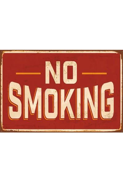 Atc No Smoking Retro Vintage Ahşap Poster 2030033