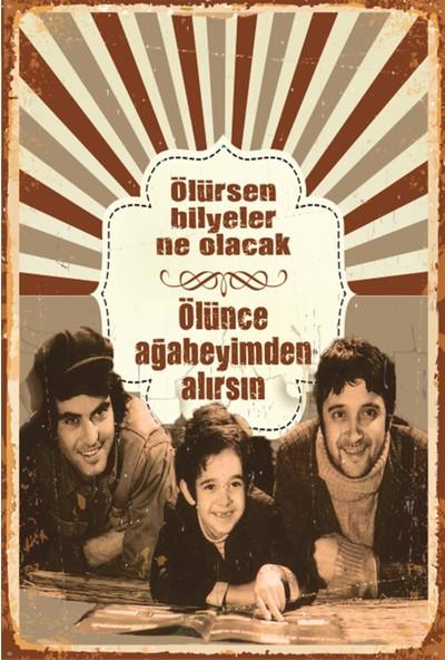 Atc Canım Kardeşim Tarık Akan Halit Akçatepe Yeşilçam Retro Vintage Ahşap Poster