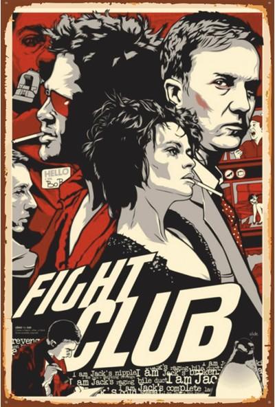 Atc Fight Club Dövüş Klübü Sinema Retro Vintage Ahşap Poster