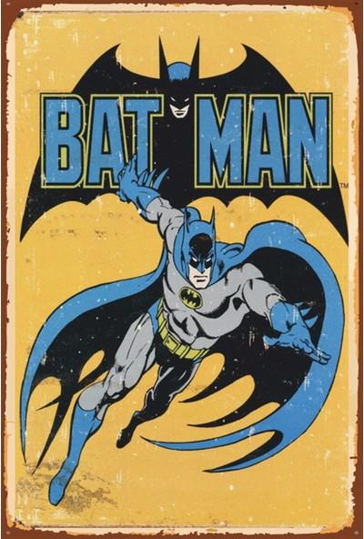 Atc Batman Retro Vintage Ahşap Poster
