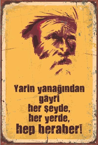 Atc Şeyh Bedrettin Retro Vintage Ahşap Poster