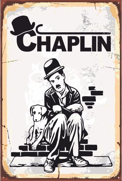 Atc Charlie Chaplin Retro Vintage Ahşap Poster