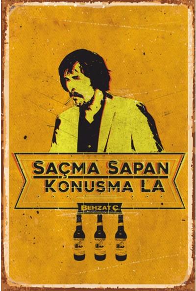 Atc Behzat Ç Retro Vintage Ahşap Poster