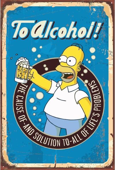 Atc The Simpsons Bira Retro Vintage Ahşap Poster