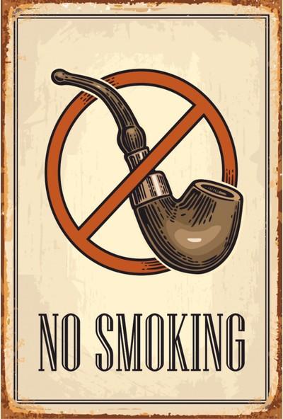 Atc No Smoking Retro Vintage Ahşap Poster